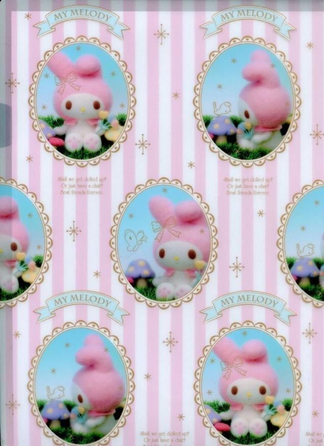 Image 1 of Sanrio My Melody Doll Design A4 Plastic File Folder #2 (FF1330)