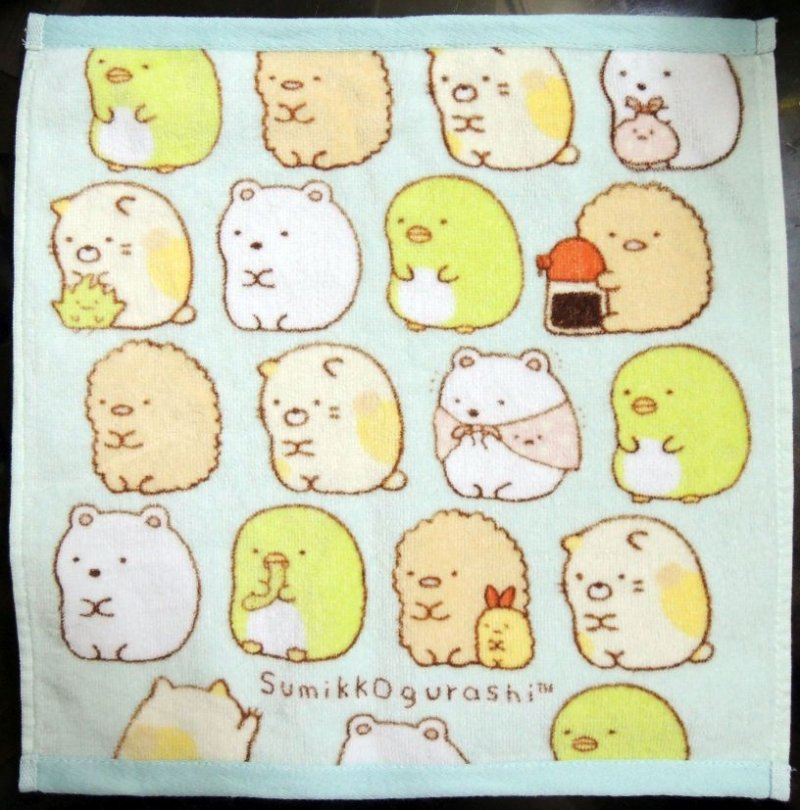 Image 0 of San-X Sumikko Gurashi Hand Towel Wash Cloth #2 (T0940)