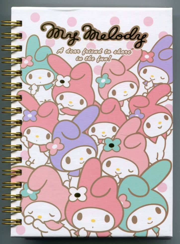 Image 0 of Sanrio My Melody Spiral Notebook Memo #12 (NB0212)