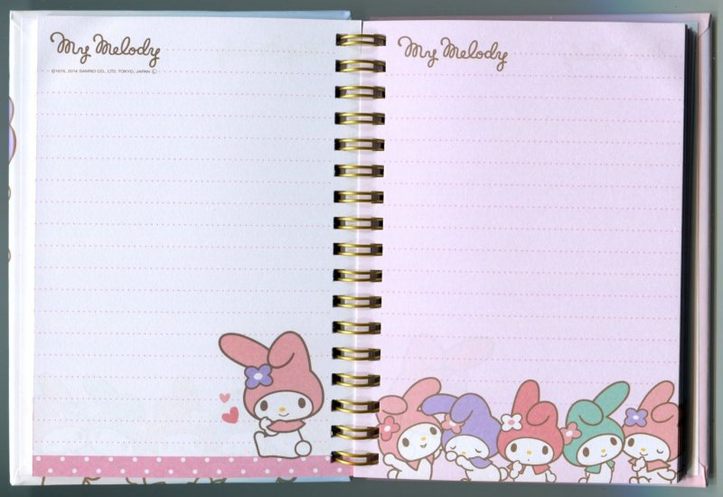 Image 1 of Sanrio My Melody Spiral Notebook Memo #12 (NB0212)