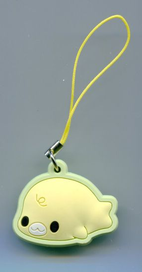 Image 0 of San-X Mamegoma Seal Die Cut Mascot Phone Strap #4 (E1316)