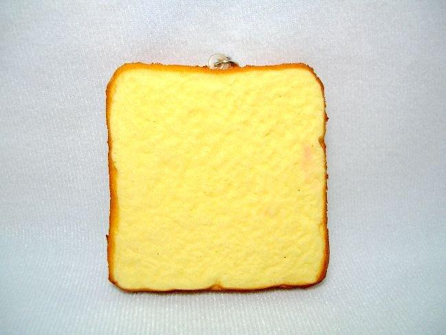 Image 1 of San-X Rilakkuma Relax Bear Bread Soft Plastic Mascot Phone Strap #1 (E1324)