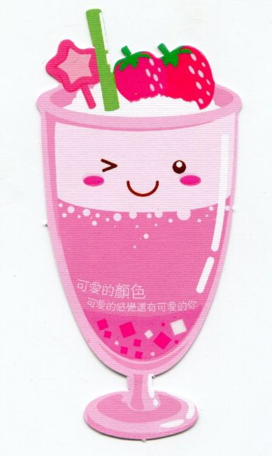 Image 0 of Drink and Beverage Die Cut Paper Bookmark #01 (SB0064)