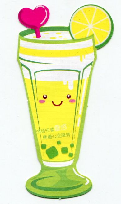 Image 0 of Drink and Beverage Die Cut Paper Bookmark #06 (SB0069)