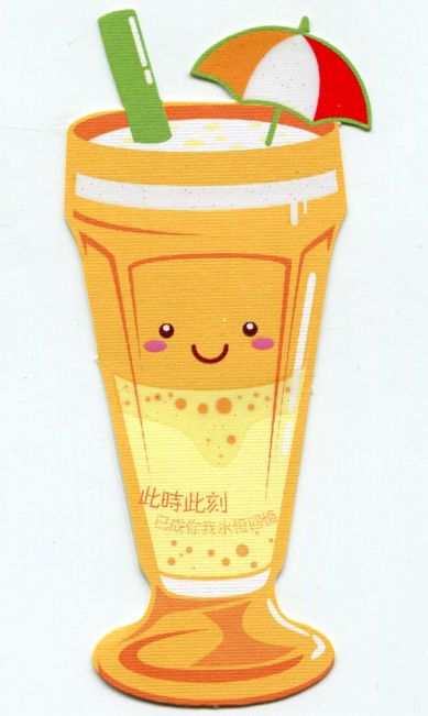 Image 0 of Drink and Beverage Die Cut Paper Bookmark #07 (SB0070)