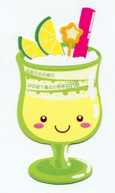 Image 0 of Drink and Beverage Die Cut Paper Bookmark #09 (SB0072)