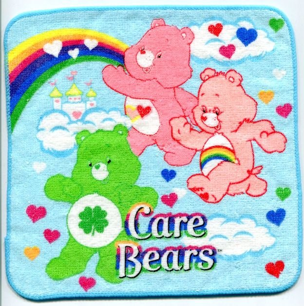 Image 0 of Care Bears Face Towel Wash Cloth #1 (T0603)