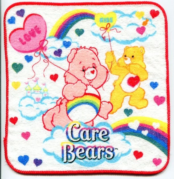 Image 0 of Care Bears Face Towel Wash Cloth #2 (T0604)