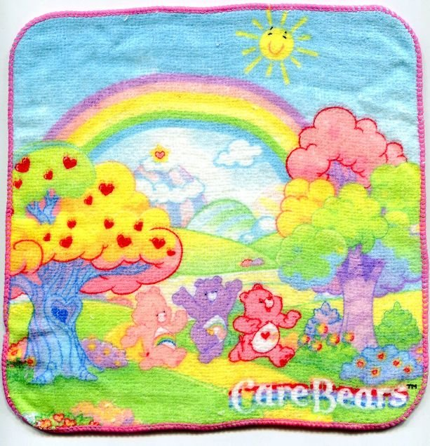 Image 0 of Care Bears Face Towel Wash Cloth #3 (T0605)
