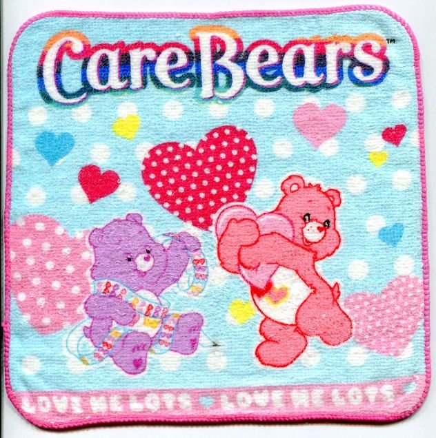 Image 0 of Care Bears Face Towel Wash Cloth #4 (T0606)