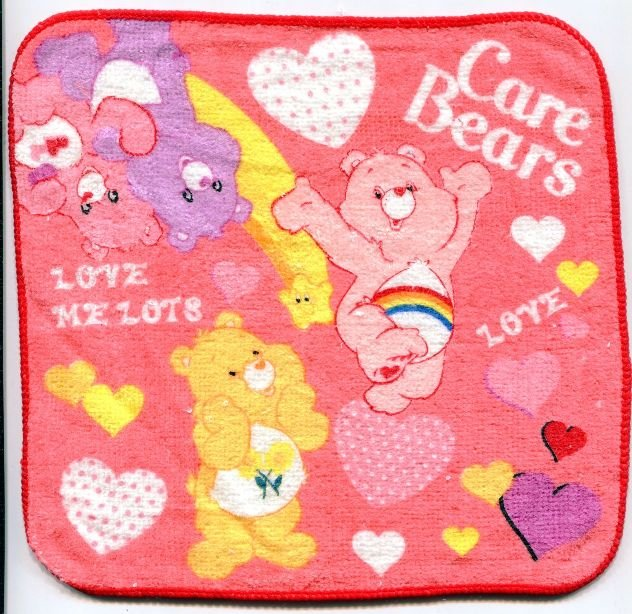 Image 0 of Care Bears Face Towel Wash Cloth #5 (T0607)