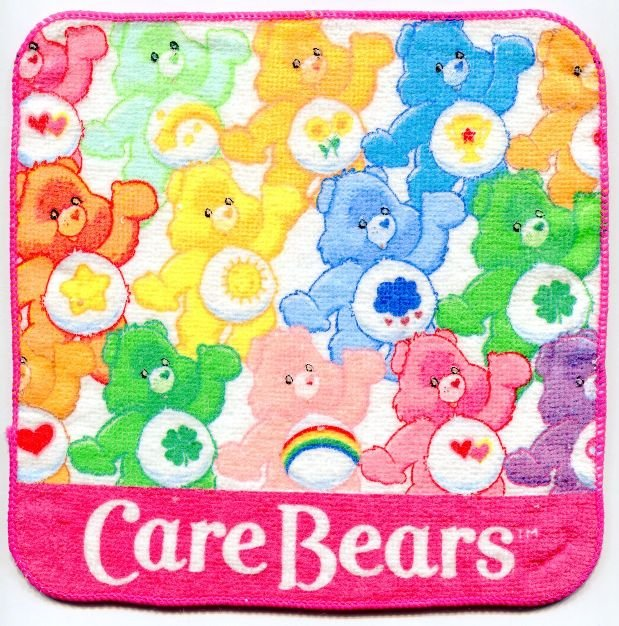 Image 0 of Care Bears Face Towel Wash Cloth #6 (T0608)