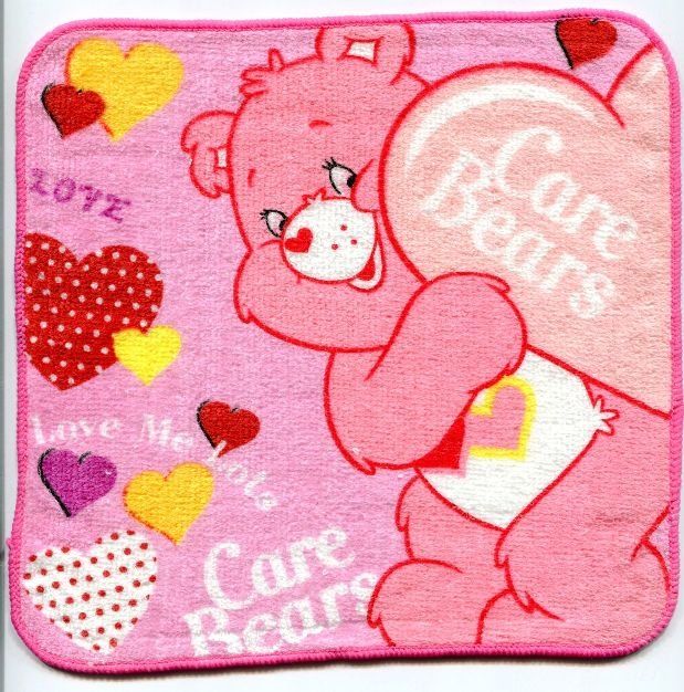 Image 0 of Care Bears Face Towel Wash Cloth #7 (T0609)