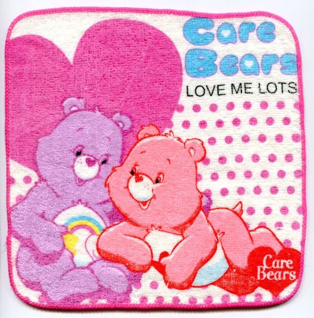 Image 0 of Care Bears Face Towel Wash Cloth #8 (T0610)