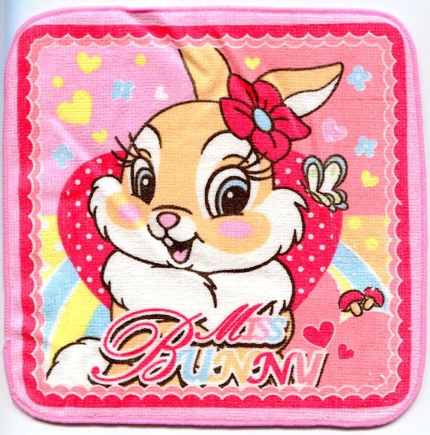 Image 0 of Disney Miss Bunny Face Towel Wash Cloth #1 (T0611)