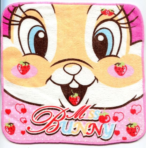 Image 0 of Disney Miss Bunny Face Towel Wash Cloth #2 (T0612)