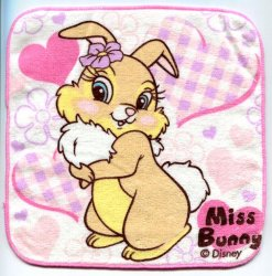 Thumbnail of Disney Miss Bunny Face Towel Wash Cloth #4 (T0614)