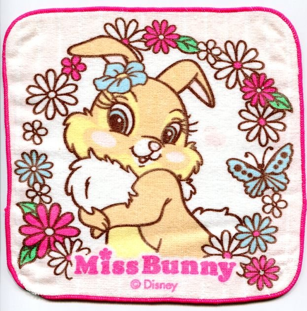 Image 0 of Disney Miss Bunny Face Towel Wash Cloth #6 (T0616)
