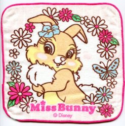 Thumbnail of Disney Miss Bunny Face Towel Wash Cloth #6 (T0616)