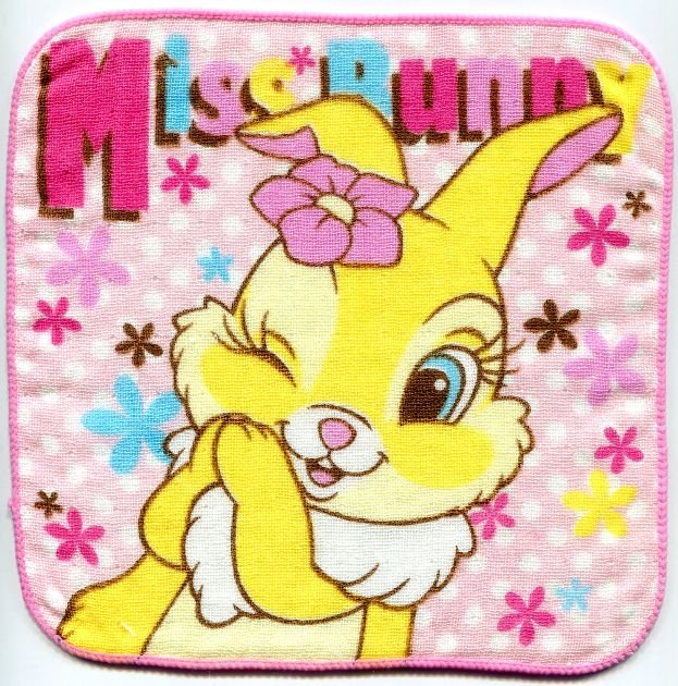 Image 0 of Disney Miss Bunny Face Towel Wash Cloth #7 (T0617)