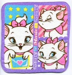 Thumbnail of Disney Marie The Aristocats Cat Face Towel Wash Cloth #1 (T0618)