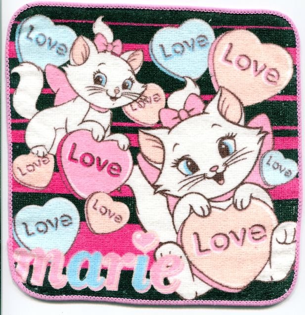 Image 0 of Disney Marie The Aristocats Cat Face Towel Wash Cloth #2 (T0619)