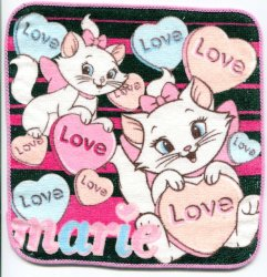 Thumbnail of Disney Marie The Aristocats Cat Face Towel Wash Cloth #2 (T0619)