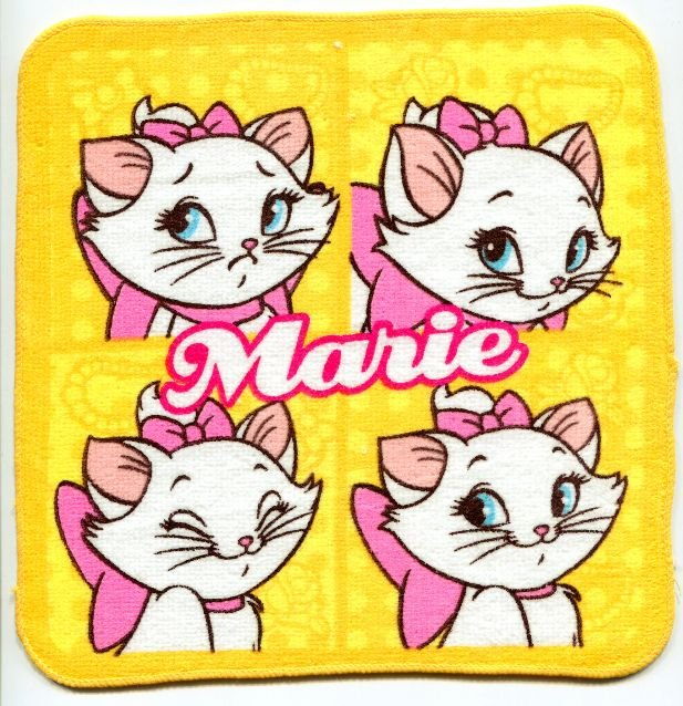 Image 0 of Disney Marie The Aristocats Cat Face Towel Wash Cloth #3 (T0620)