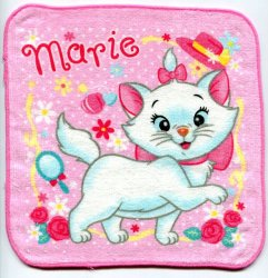 Thumbnail of Disney Marie The Aristocats Cat Face Towel Wash Cloth #4 (T0621)