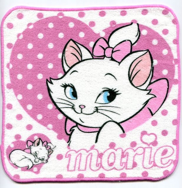 Image 0 of Disney Marie The Aristocats Cat Face Towel Wash Cloth #5 (T0622)
