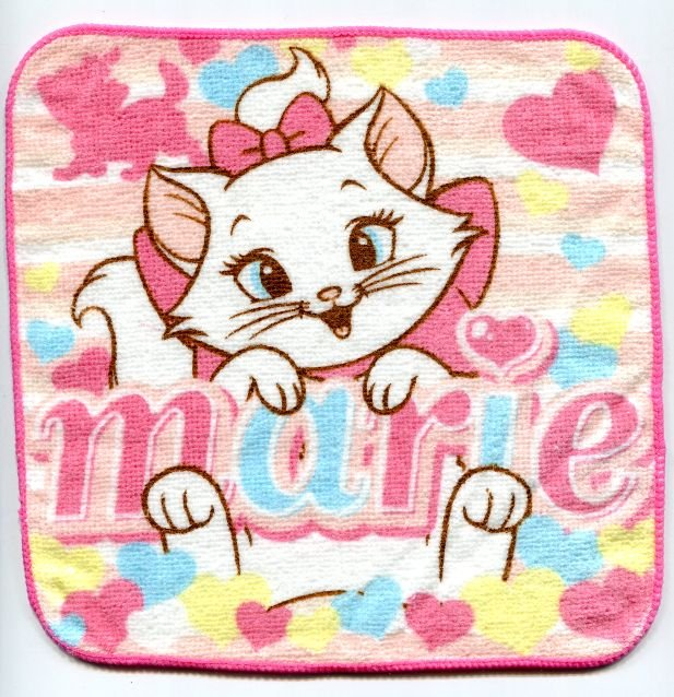 Image 0 of Disney Marie The Aristocats Cat Face Towel Wash Cloth #6 (T0623)