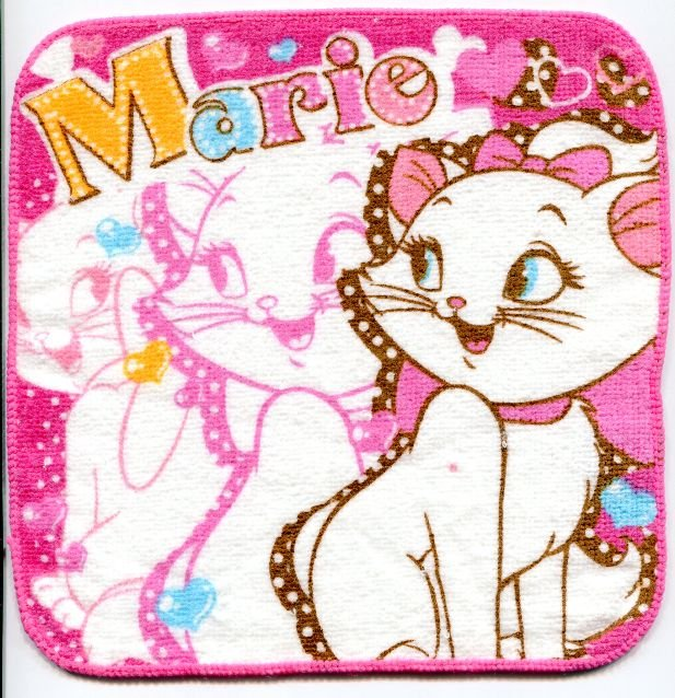 Image 0 of Disney Marie The Aristocats Cat Face Towel Wash Cloth #7 (T0624)