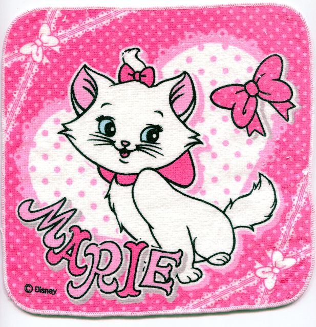 Image 0 of Disney Marie The Aristocats Cat Face Towel Wash Cloth #8 (T0625)