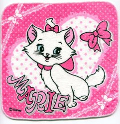 Thumbnail of Disney Marie The Aristocats Cat Face Towel Wash Cloth #8 (T0625)