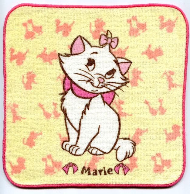 Image 0 of Disney Marie The Aristocats Cat Face Towel Wash Cloth #9 (T0626)
