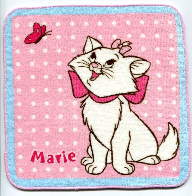 Image 0 of Disney Marie The Aristocats Cat Face Towel Wash Cloth #10 (T0627)