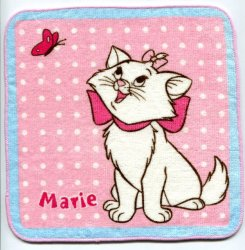 Thumbnail of Disney Marie The Aristocats Cat Face Towel Wash Cloth #10 (T0627)