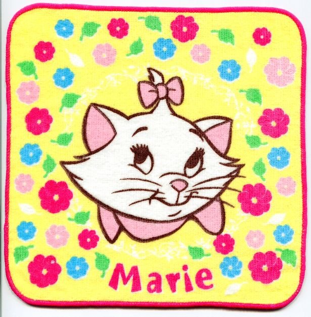 Image 0 of Disney Marie The Aristocats Cat Face Towel Wash Cloth #11 (T0628)