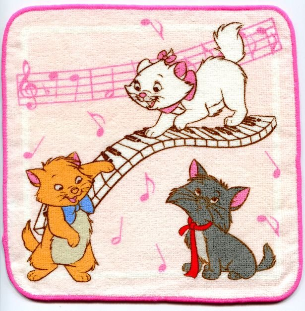Image 0 of Disney Marie The Aristocats Cat Face Towel Wash Cloth #12 (T0629)