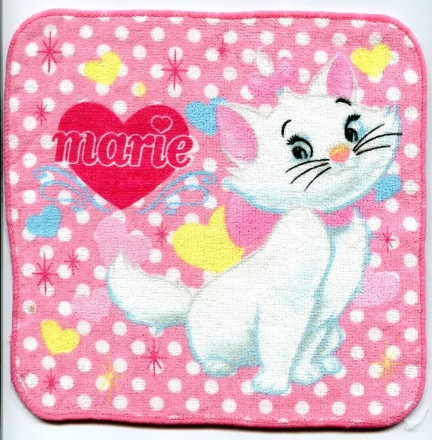 Image 0 of Disney Marie The Aristocats Cat Face Towel Wash Cloth #14 (T0631)