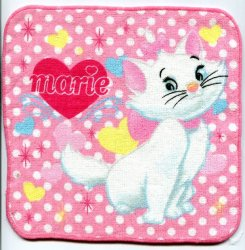 Thumbnail of Disney Marie The Aristocats Cat Face Towel Wash Cloth #14 (T0631)