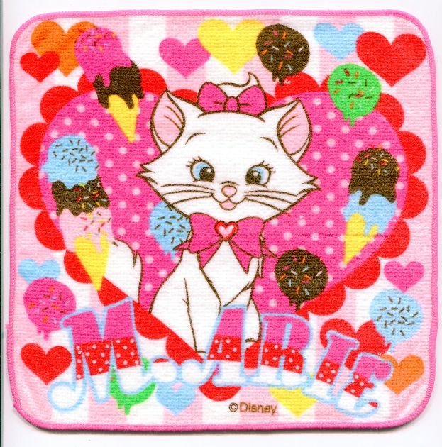 Image 0 of Disney Marie The Aristocats Cat Face Towel Wash Cloth #15 (T0632)