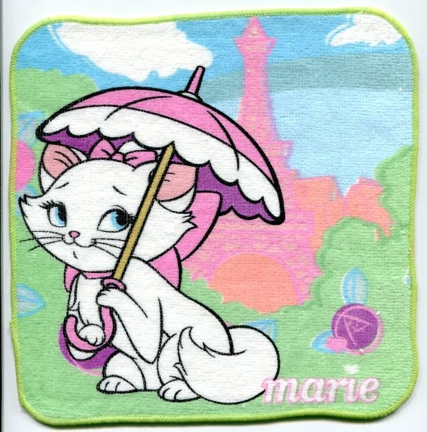 Image 0 of Disney Marie The Aristocats Cat Face Towel Wash Cloth #16 (T0633)