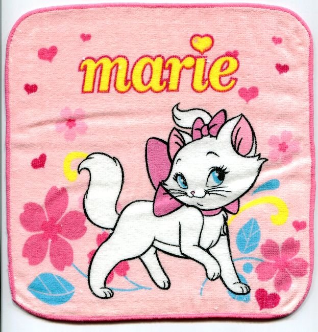 Image 0 of Disney Marie The Aristocats Cat Face Towel Wash Cloth #17 (T0634)
