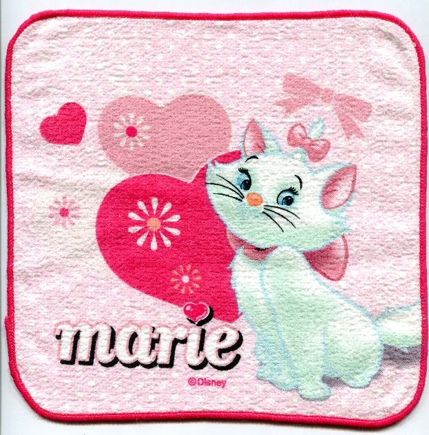Image 0 of Disney Marie The Aristocats Cat Face Towel Wash Cloth #18 (T0635)