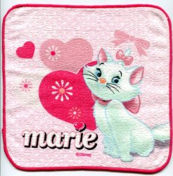 Thumbnail of Disney Marie The Aristocats Cat Face Towel Wash Cloth #18 (T0635)