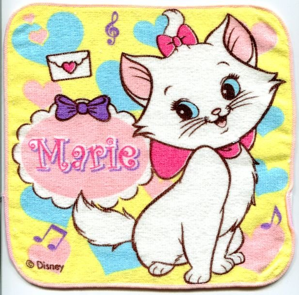 Image 0 of Disney Marie The Aristocats Cat Face Towel Wash Cloth #19 (T0636)
