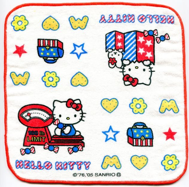 Image 0 of Sanrio Hello Kitty Face Towel Wash Cloth #30 (T0646)