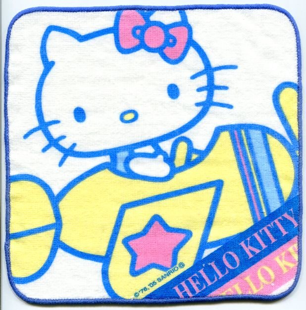 Image 0 of Sanrio Hello Kitty Face Towel Wash Cloth #33 (T0649)
