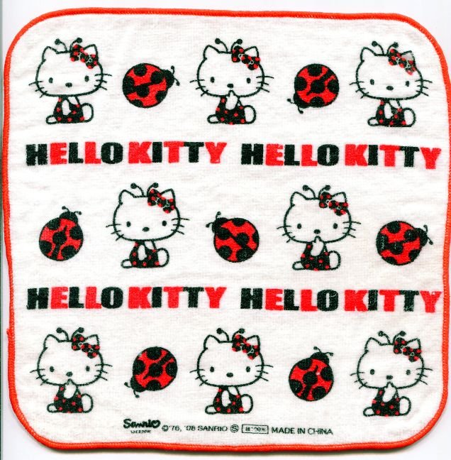 Image 0 of Sanrio Hello Kitty Face Towel Wash Cloth #35 (T0651)